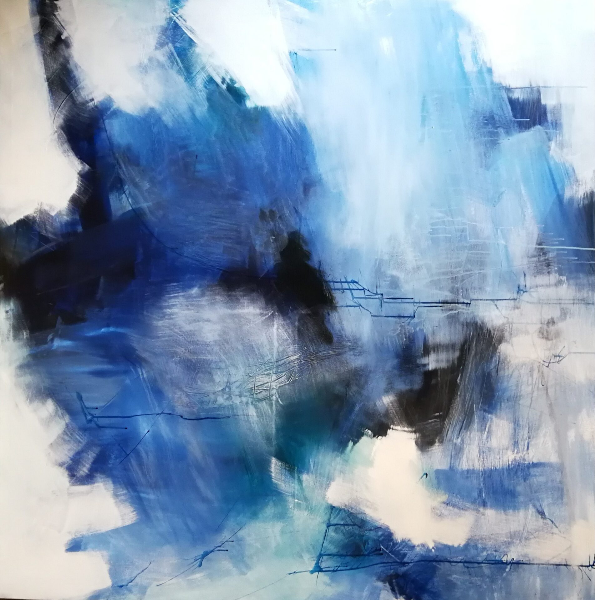 Anitta Jonas, abstract on canvas 150x150