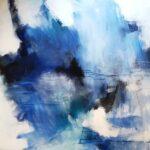 Anitta Jonas, abstract on canvas 150x150